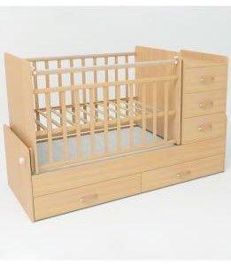 Детская кроватка-маятник с комодом