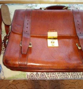 Кожаный итальянский портфель