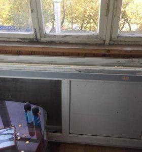 Двери балконные.пластиковые.стандартные