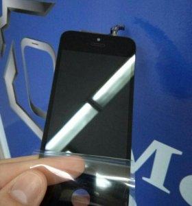 Дисплей Apple iPhone 5S чёрный