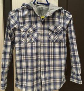 Рубашка Зара с капюшоном
