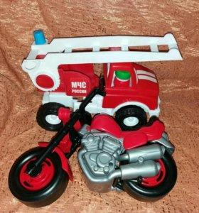 игрушки пожарная машина мотоцикл
