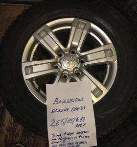 265 65 17 Bridgestone Blizzak на Pajero Sport 2