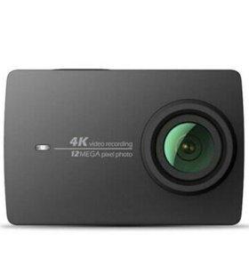 Экшн камера Xiaomi 4k Yi с моноподом и пультом д/у