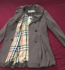 Пальто Burberry кофейного цвета. Новое