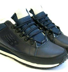 Зимние ботинки new balance 754 blue white