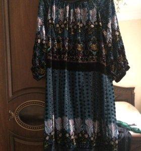 Платье бархатный велюр
