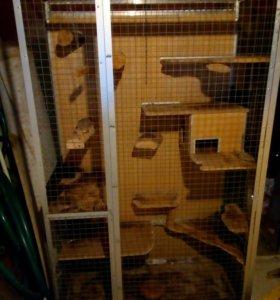 Клетка для хорьков,шиншилл и других грызунов