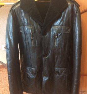 Куртка нат кожа и мех