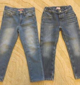 Утеплённые джинсы для девочки, 104-110 см 👖