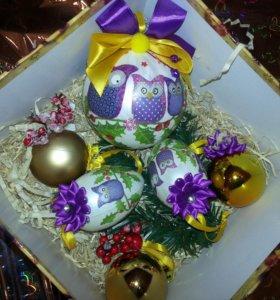 Набор елочных украшений/игрушек,новогодний подарок
