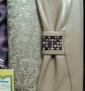 Портмоне женское обложка для паспорта кожа