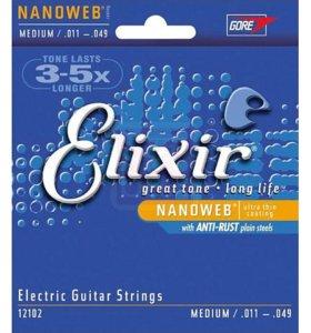 Струны Elixir Nanoweb Medium .011-.049