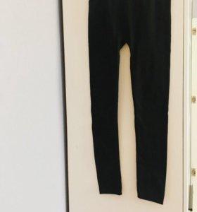 Новые Теплые Леггинсы чёрные, размер 40-42-44