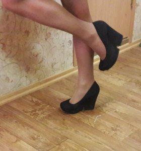 Туфли замшевые 39-40 р-р.