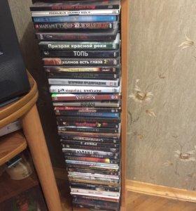 Стойка для дисков(2 шт) + 75 дисков