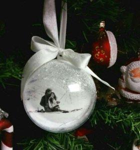Новогодний шар на елку с фотографией