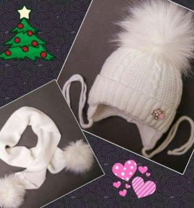 Зимняя шапочка и шарфик