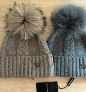 Женская шапка Armani . 2 цвета