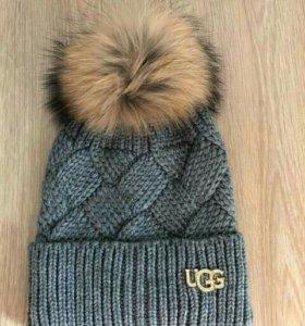 Женская шапка UGG . Качество супер.