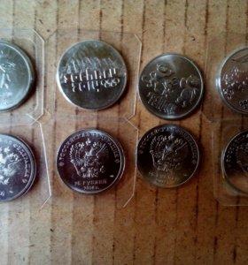 Монеты юбилейные Сочи 2014 из 4 штук. Деньги