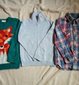 Джемпер и рубашка h&m