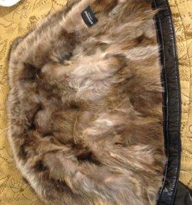 Кожанная куртка, мех-койот