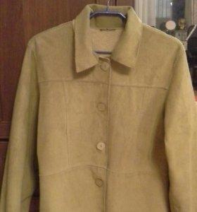 Курточка замшевая,натуральная, лёгкая
