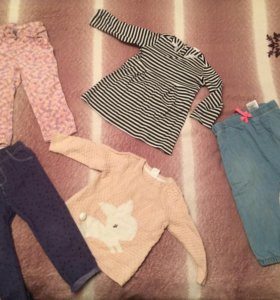 Вещи на девочку 74-86 пакетом