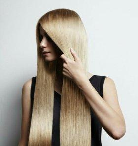Кератиновое восстановление (выпрямление ) волос