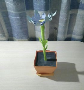 Цветок из цветного картона