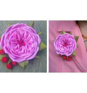 Роза-брошь из фоамирана