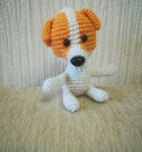 Собачка игрушка вязаная