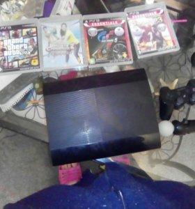 PS 3 Super Slim 500gb 4 игры