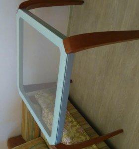 Стол стеклянный квадратный 90 см