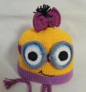 шапочка- миньончик для девочки