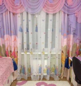 Комплект (шторы, тюль,балдахин) для детской