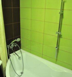ванная комната под ключ, стены лофт, 3-д ...