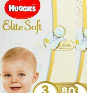 Новые Huggies Elite Soft N1,2,3.