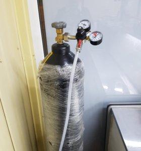 Балон углекислотный заправленый с редуктором