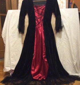 Карнавальный костюм ( платье ) , на Хэлуин .