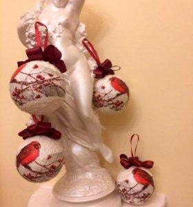Елочные шары декупаж новогодние подарки