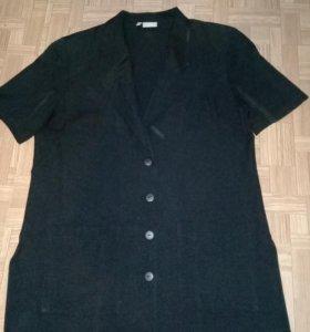 Удлиненный пиджак с коротким рукавом