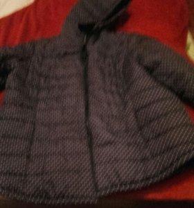 Куртка 58 размер синий в горошек