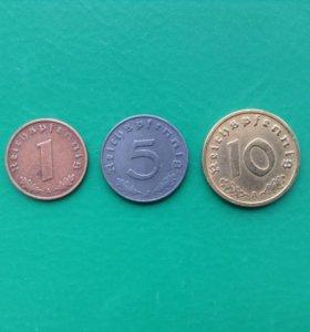 Монеты Германии периода 2-ой мировой войны