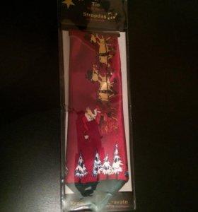Новогодний галстук(музыкальный)🎶☃🎁
