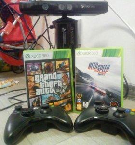 Xbox360E+kinect+gta5+nfs rivals