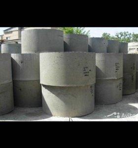 Кольца канализационные 1м. и 1,5м. и крышки