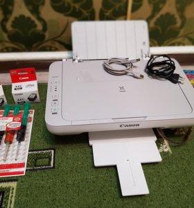 Принтер Canon mg2140 с СНПЧ