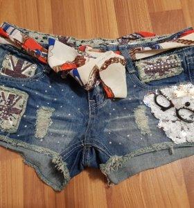Шорты джинсовые новые,обмен